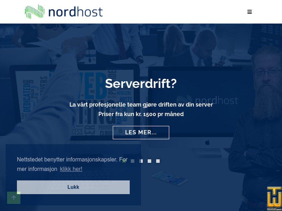 nordhost.no screenshot