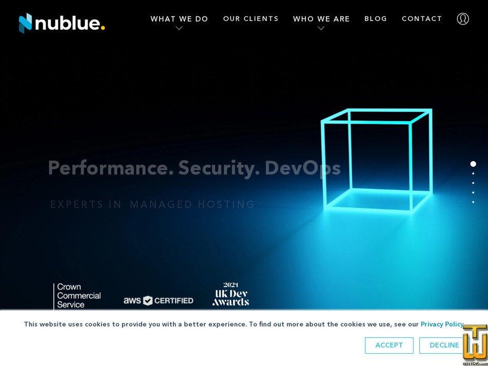nublue.co.uk screenshot