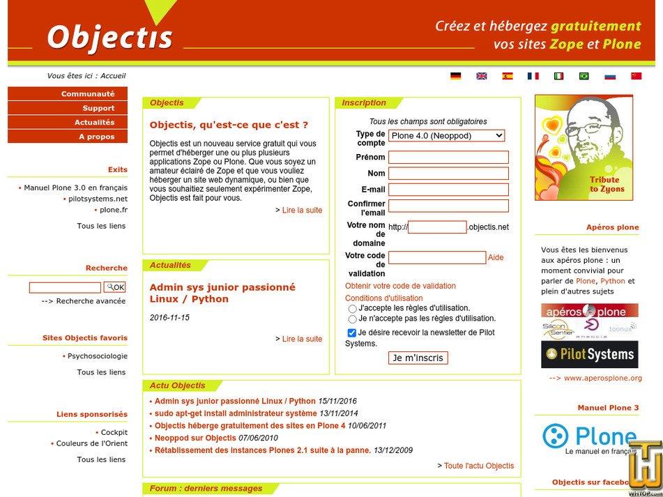 objectis.org Screenshot