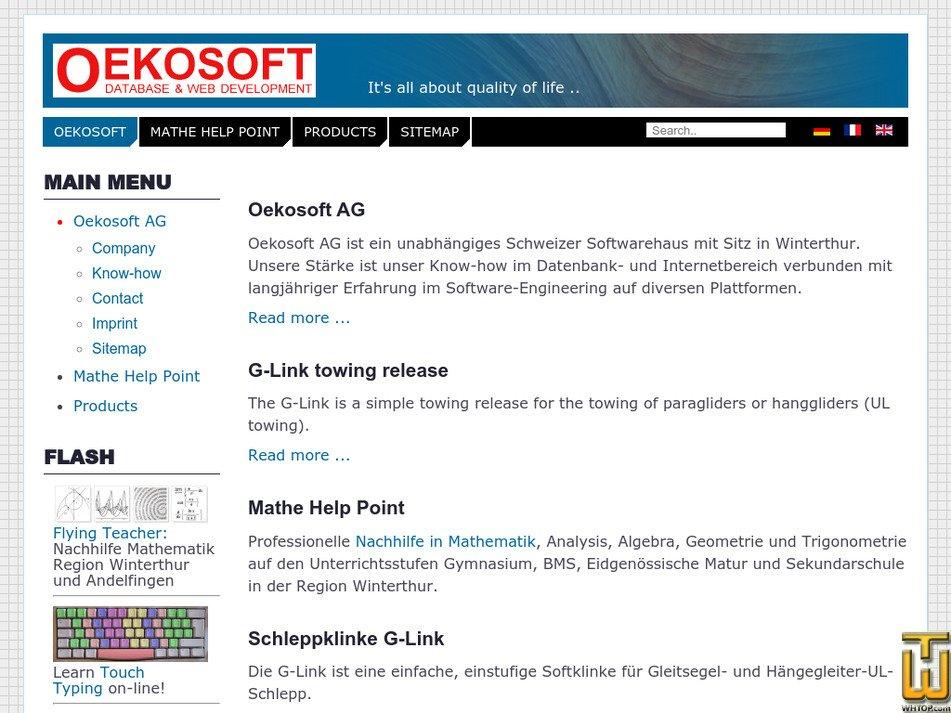 oekosoft.ch Screenshot
