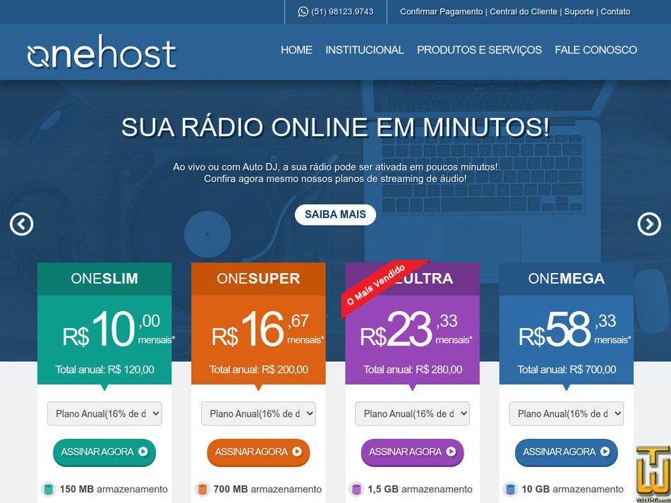 onehost.com.br Screenshot