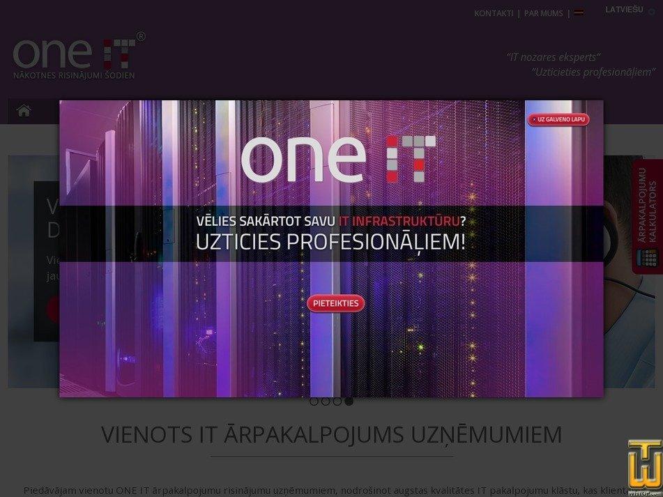 oneit.lv screenshot