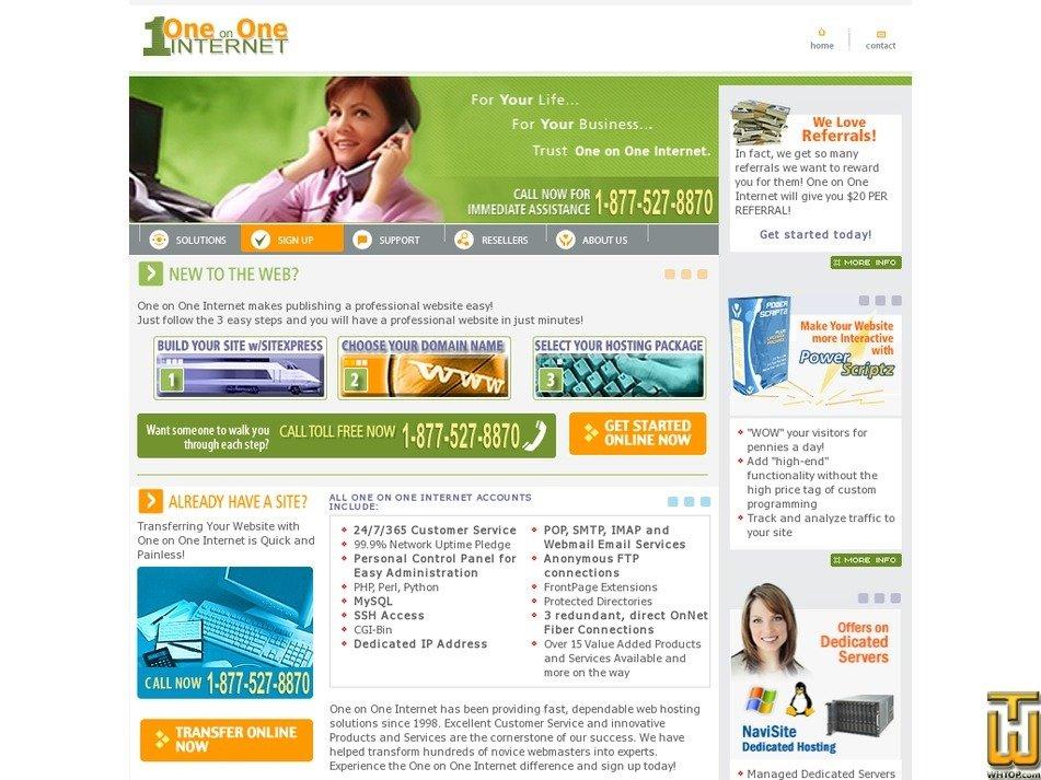 oneononeinternet.com Screenshot