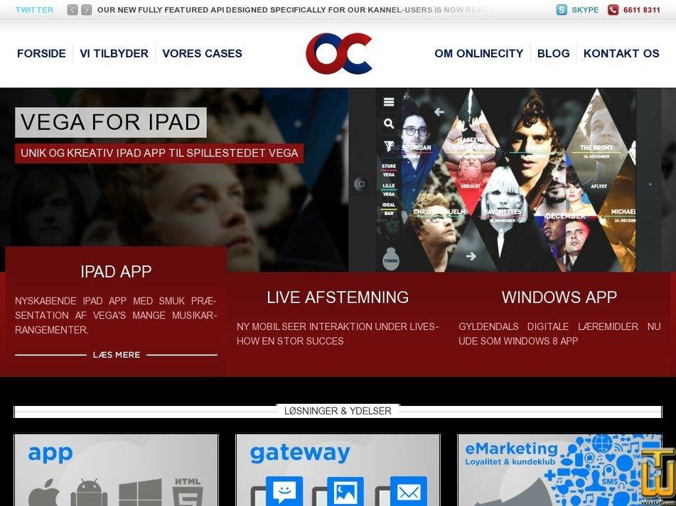 onlinecity.dk Screenshot