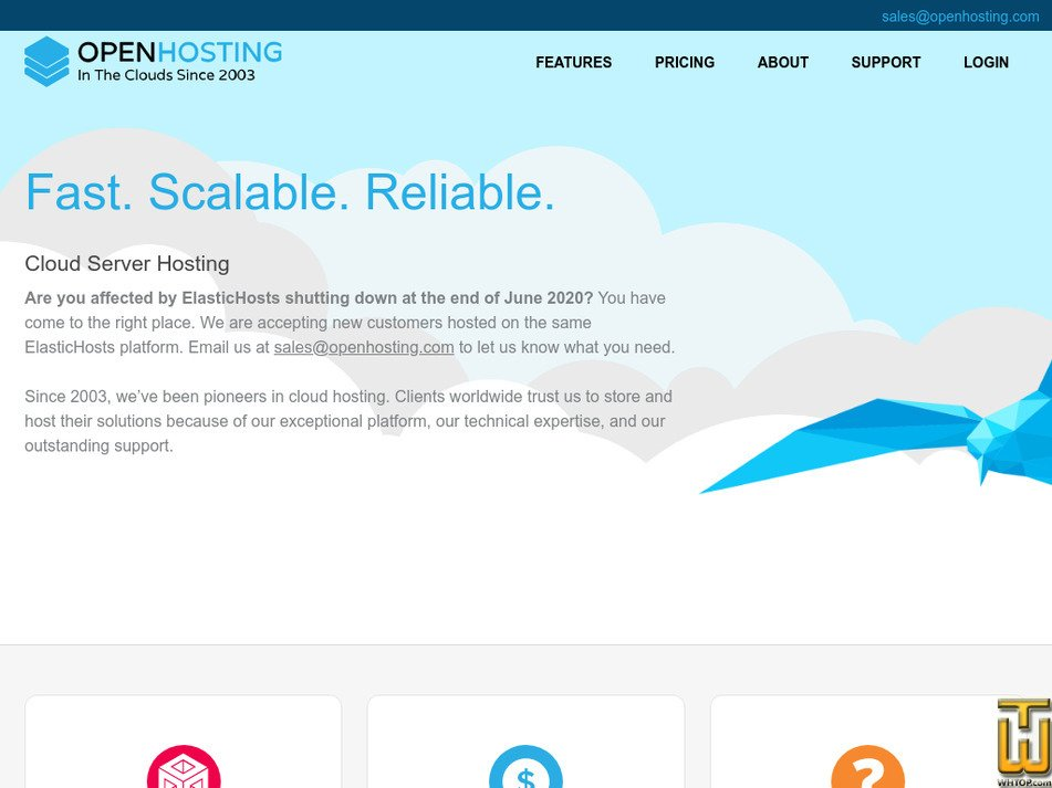 openhosting.com Screenshot