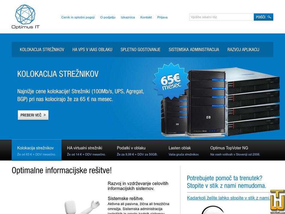 optimus.si Screenshot