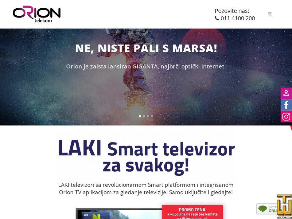 oriontelekom.rs Screenshot