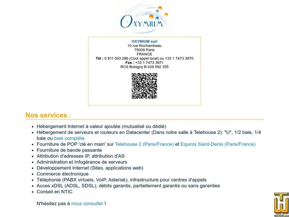 oxymium.net Screenshot