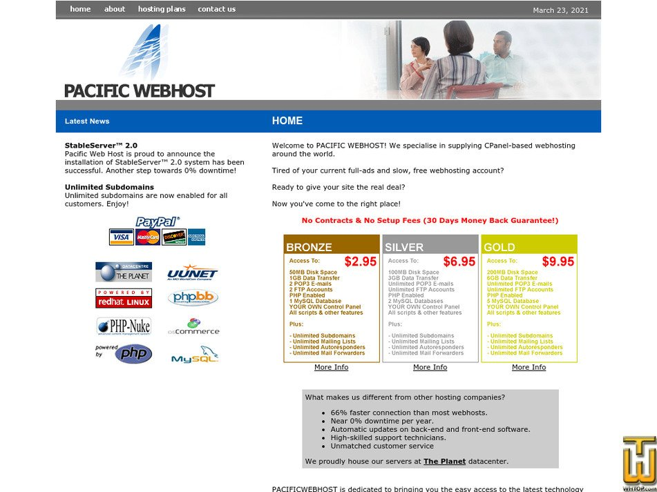 pacificwebhost.com Screenshot