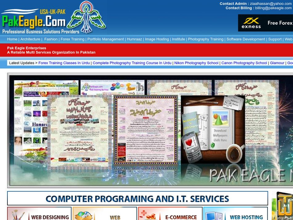 pakeagle.com Screenshot