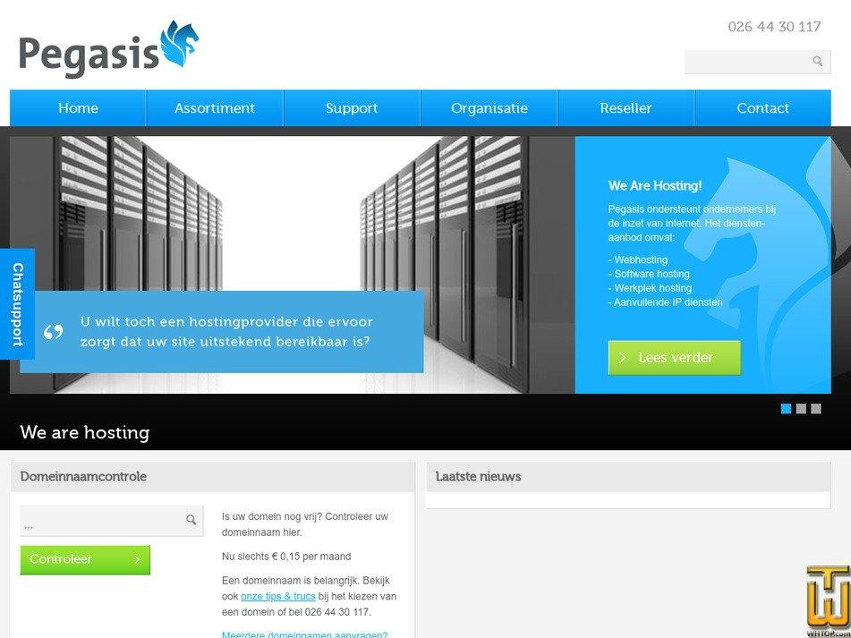 pegasis.nl Screenshot