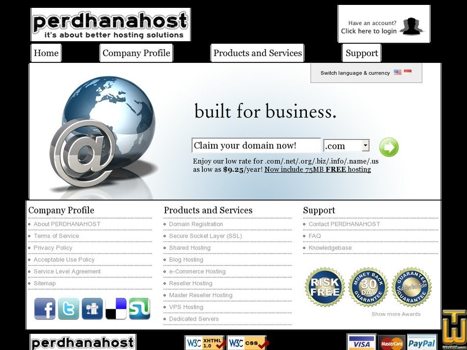 perdhanahost.net Screenshot