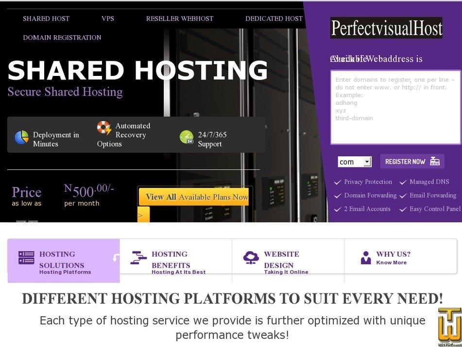 perfectvisualhost.com Screenshot