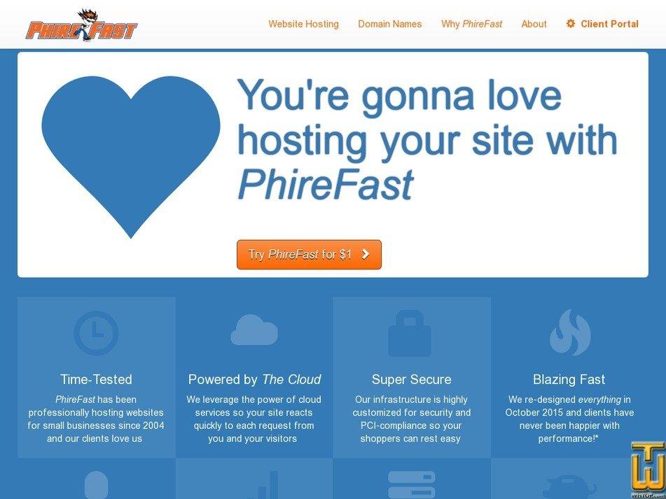 phirefast.com Screenshot
