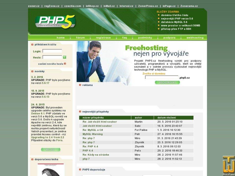 php5.cz Screenshot