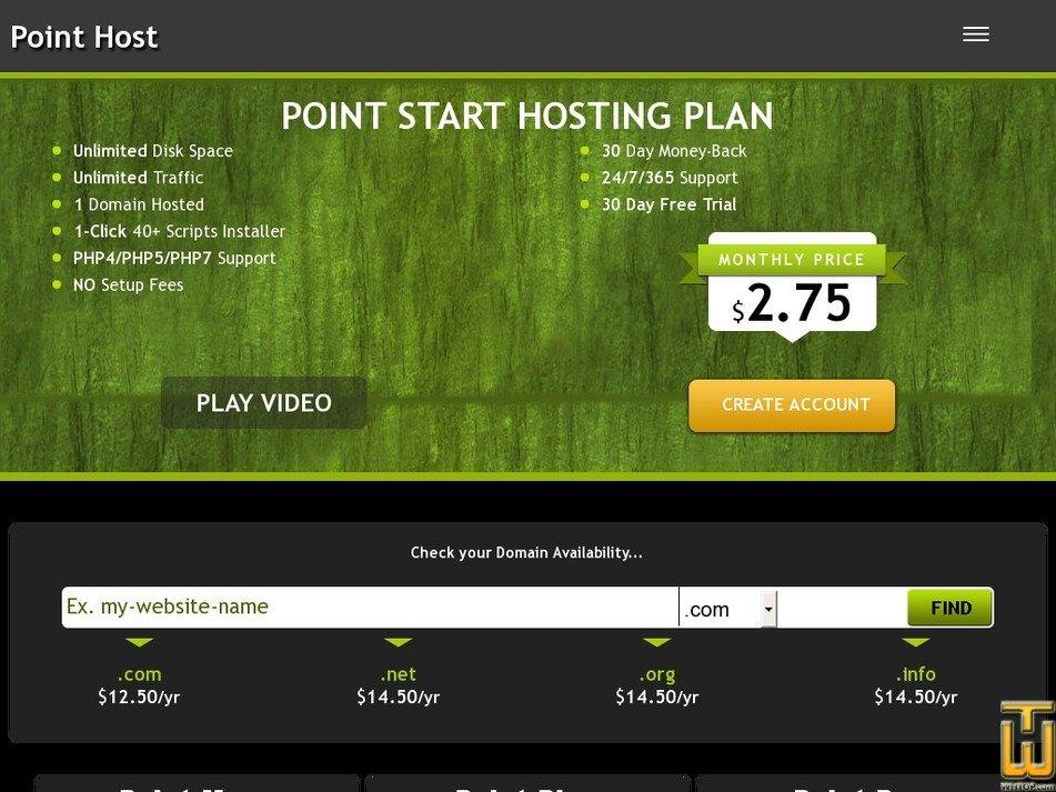 pointhost.net screenshot