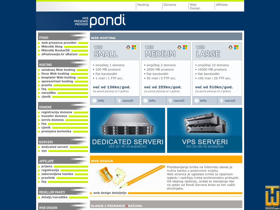 pondi.hr screenshot