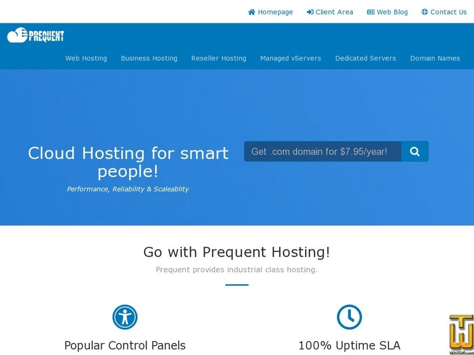 prequent.net screenshot
