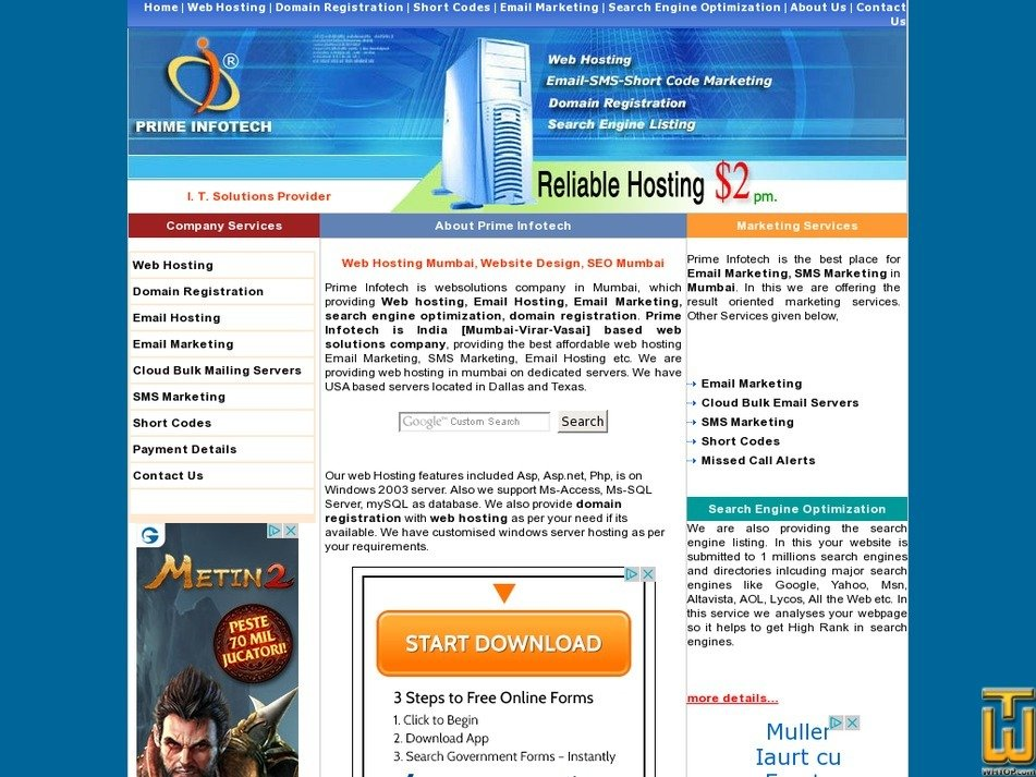 primeinfotech.co.in Screenshot