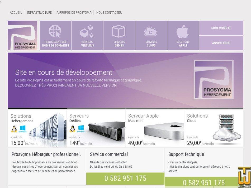 prosygma.com Screenshot