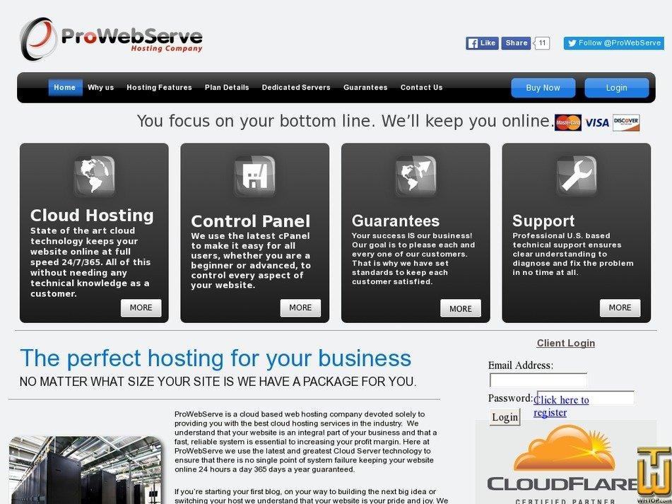prowebserve.com Screenshot