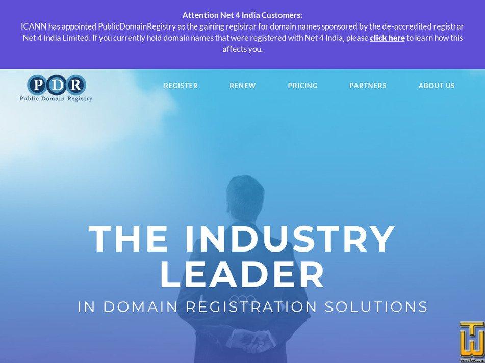Publicdomainregistry Com Screenshot