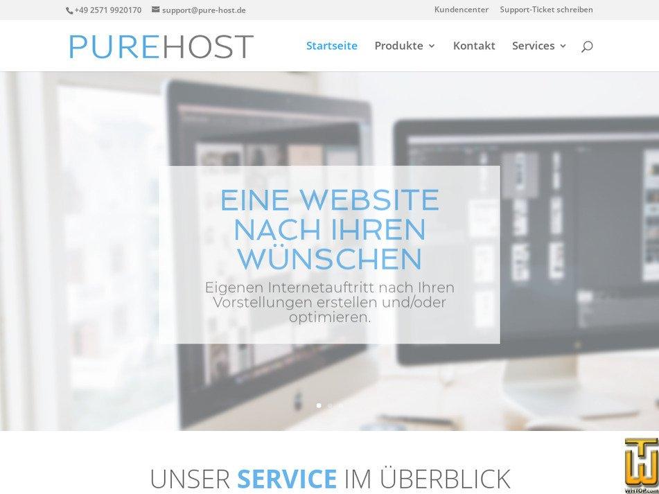 pure-host.de Screenshot