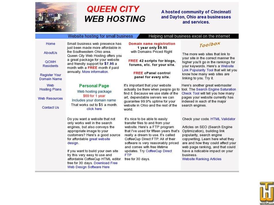 queencitywebhosting.com Screenshot