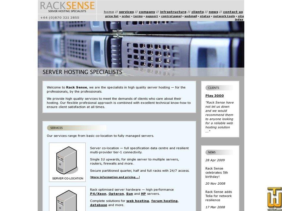 racksense.com Screenshot