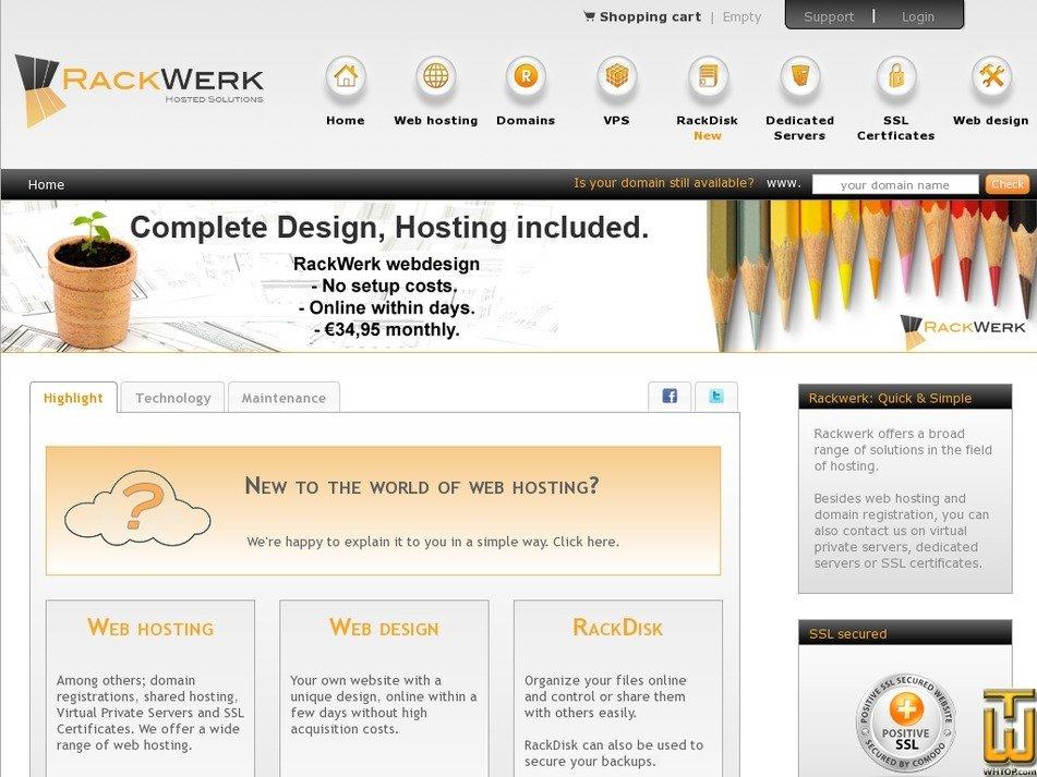 rackwerk.net Screenshot