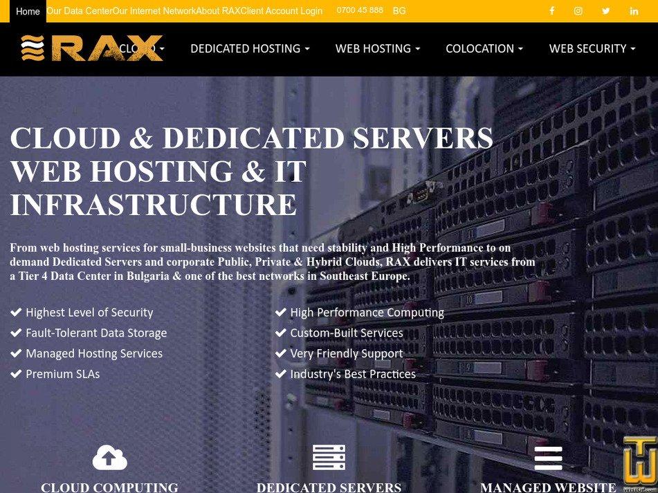 rax.bg Screenshot