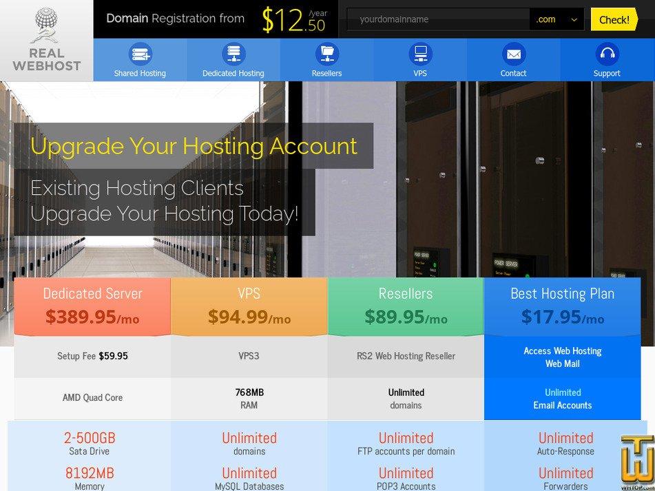 realwebhost.net Screenshot