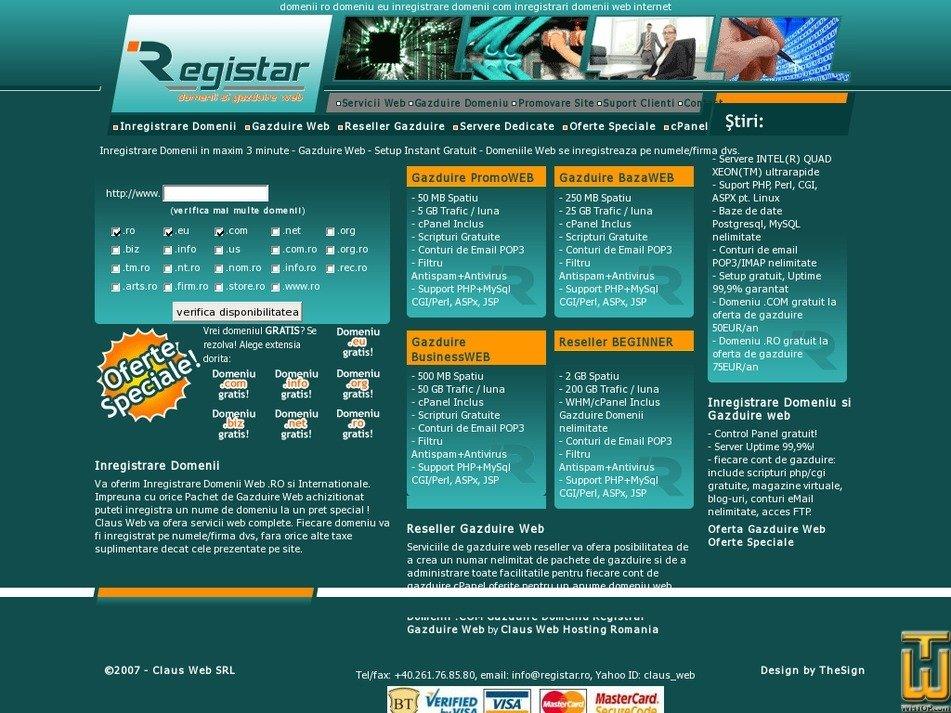 registar.ro Screenshot