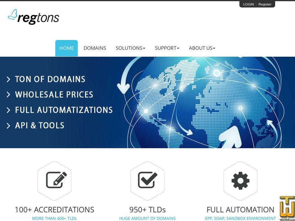 regtons.com Screenshot