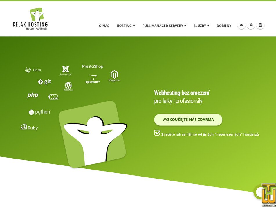 relaxhosting.cz Screenshot