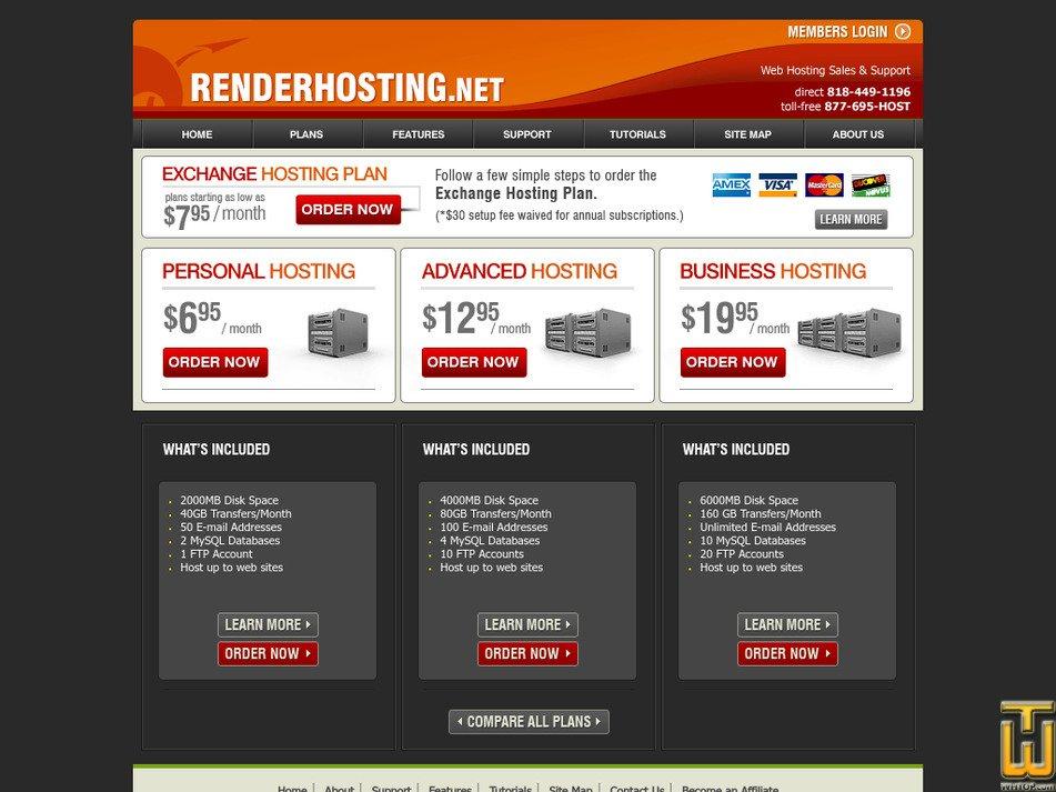 renderhosting.net Screenshot