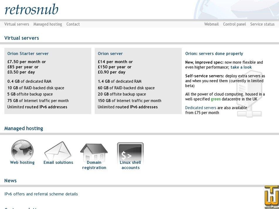 retrosnub.co.uk Screenshot