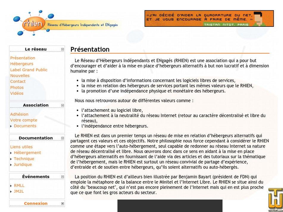 rhien.org Screenshot
