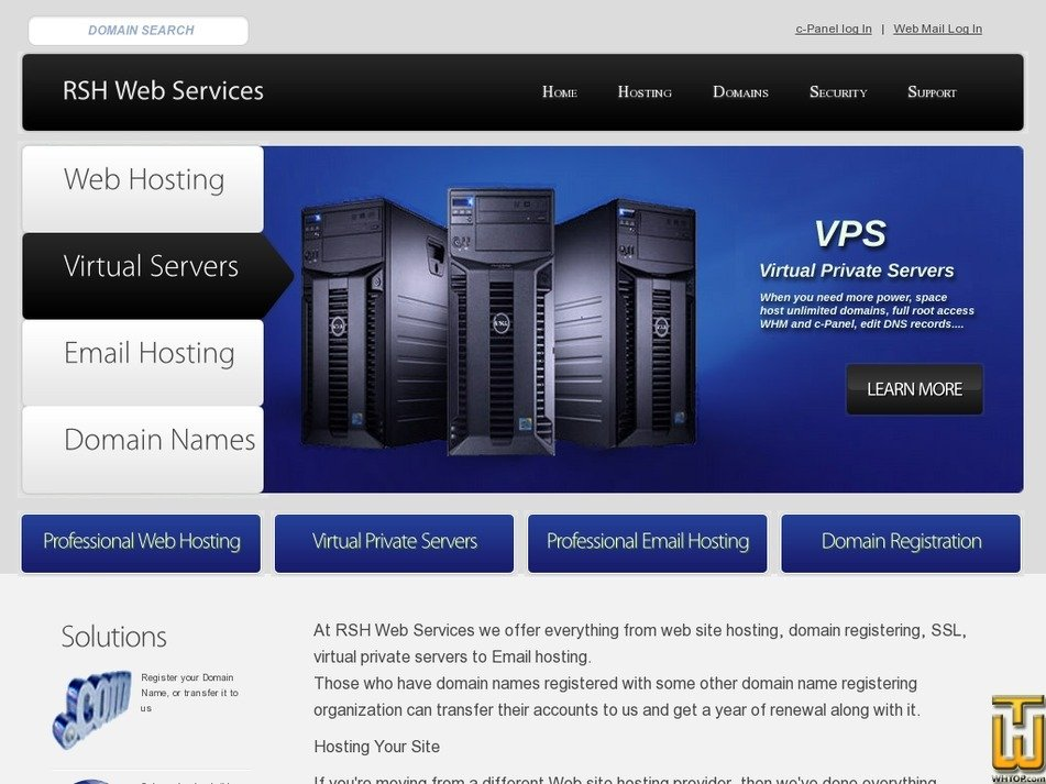 rshwebhosting.com Screenshot