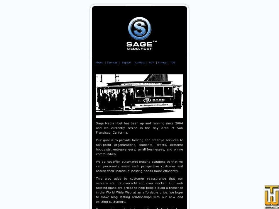 sagemediahost.com Screenshot