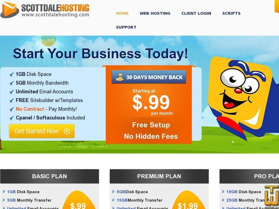 scottdalehosting.com Screenshot