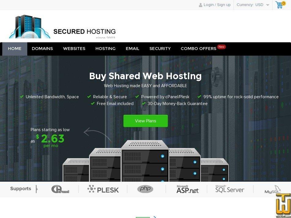 secured-hosting.com Screenshot