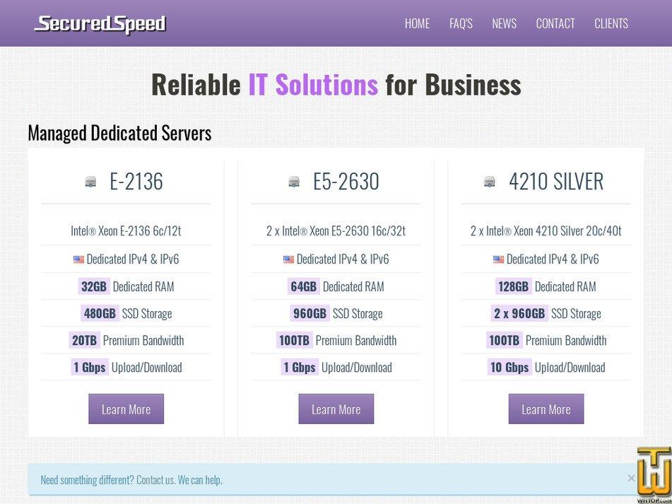 securedspeed.com Screenshot