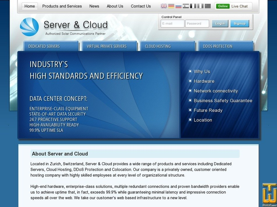 server-cloud.com Screenshot