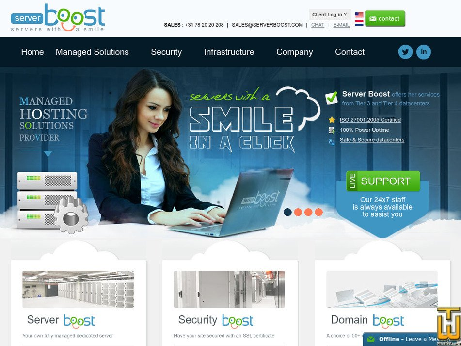 serverboost.com Screenshot
