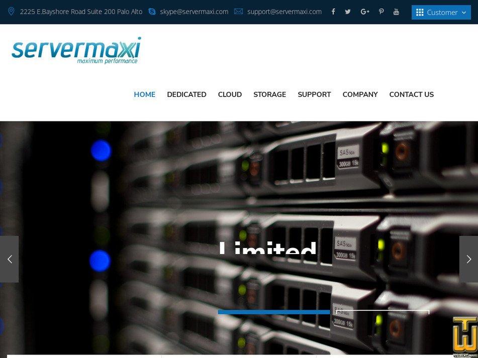 servermaxi.com Screenshot