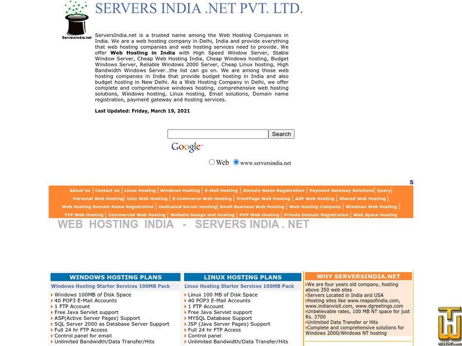 serversindia.net Screenshot