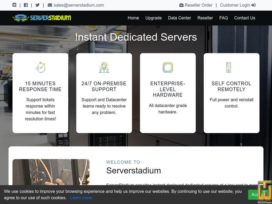 serverstadium.com Screenshot