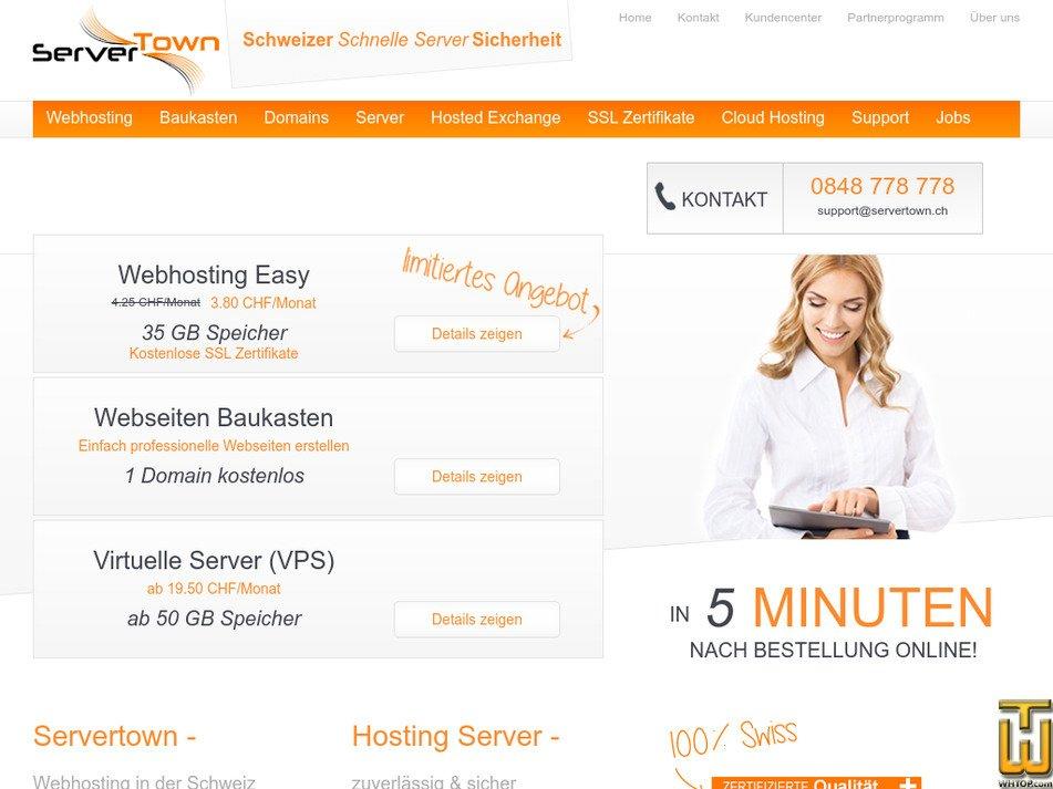 servertown.ch screenshot