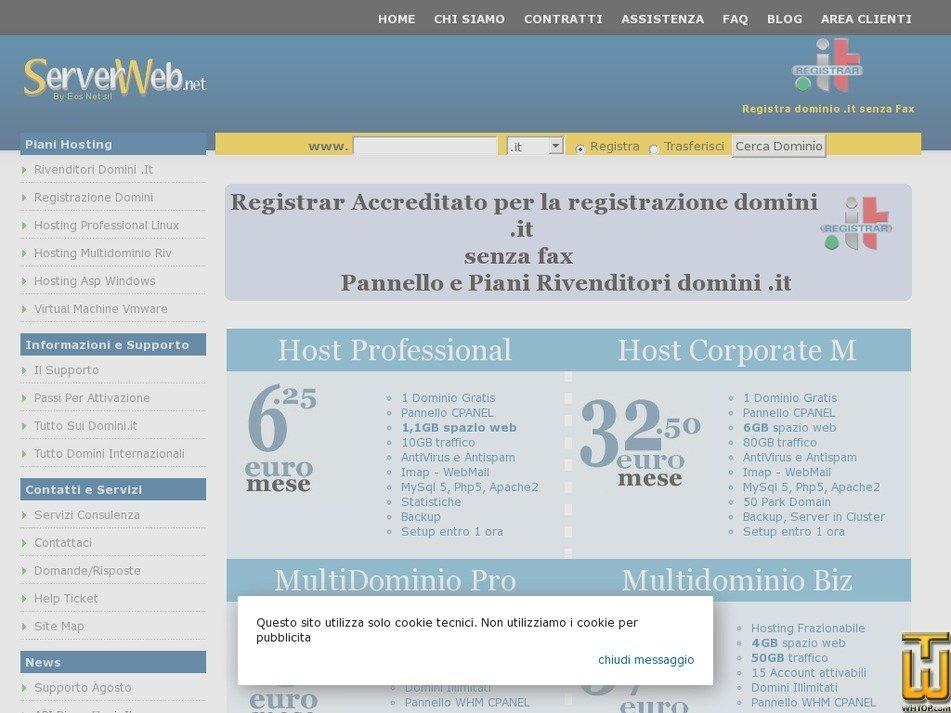 serverweb.net Screenshot
